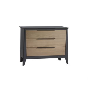 Bureau 3 tiroirs Flexx Graphite / Natural wheat - Nest